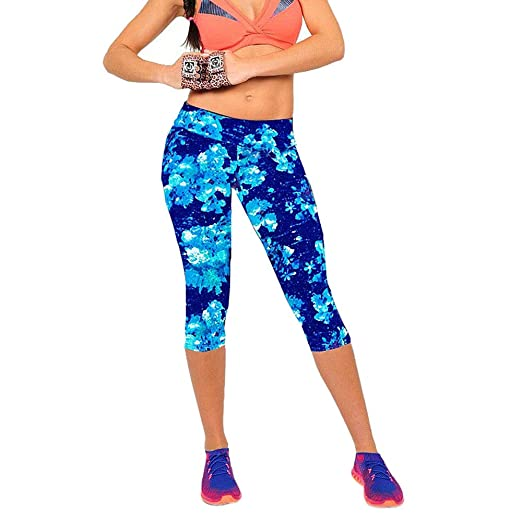 7298564016a99 POQOQ Women's High Waist Yoga Pants with Pockets, Tummy Control Workout  Running 4 Way Stretch