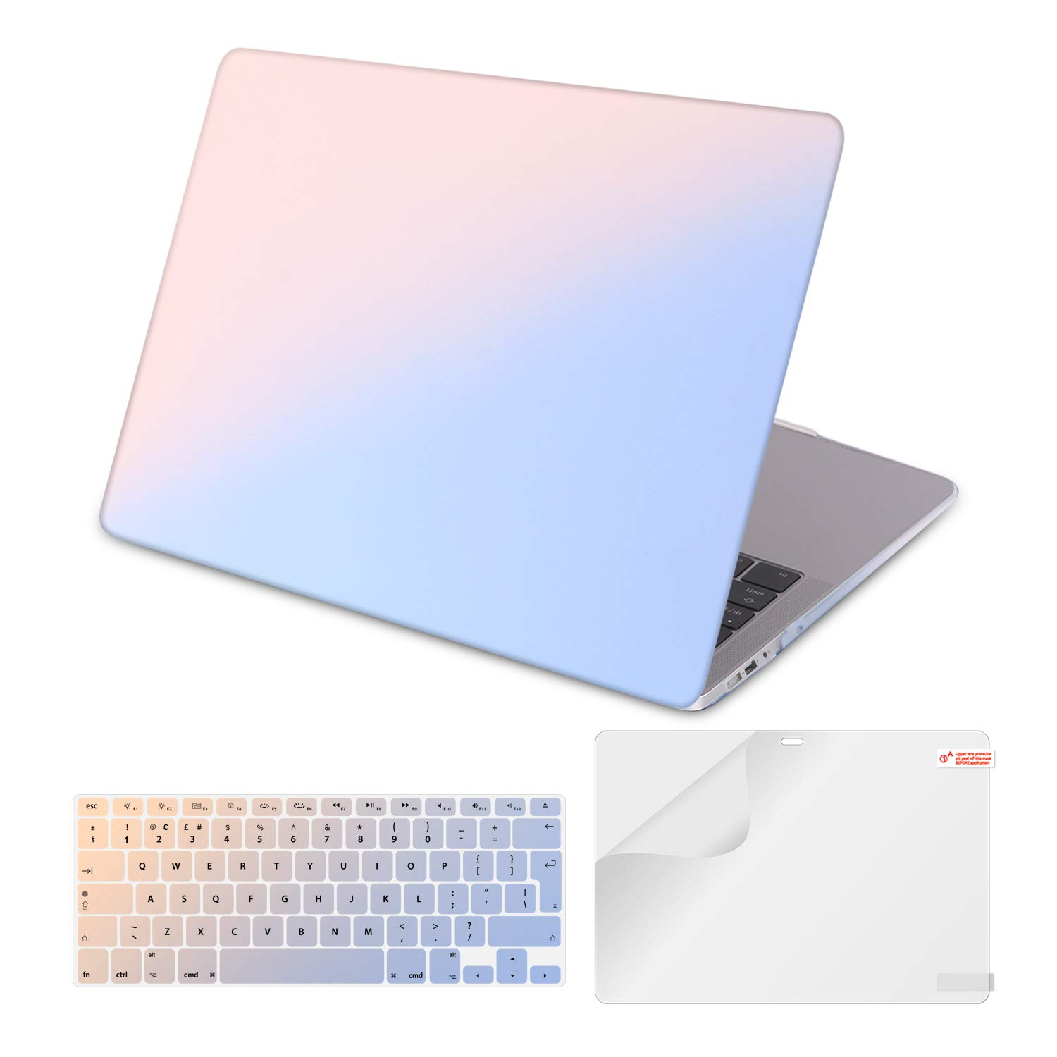 iCasso MacBook Air 13 inch Case Ultra Slim Plastic Rubber Coated Matte Hard Shell Soft-Touch Snap On Cover for MacBook Air 13 inch Model: A1369 // A1466 Purple Medallion