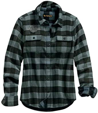 Harley-Davidson Womens Studded Logo Buffalo Check Shirt