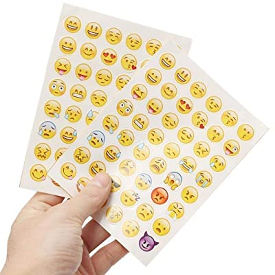 Dongtu 4 Sheet/Set Kids Funny Cartoon Emoji Stickers Stickers: Toys & Games