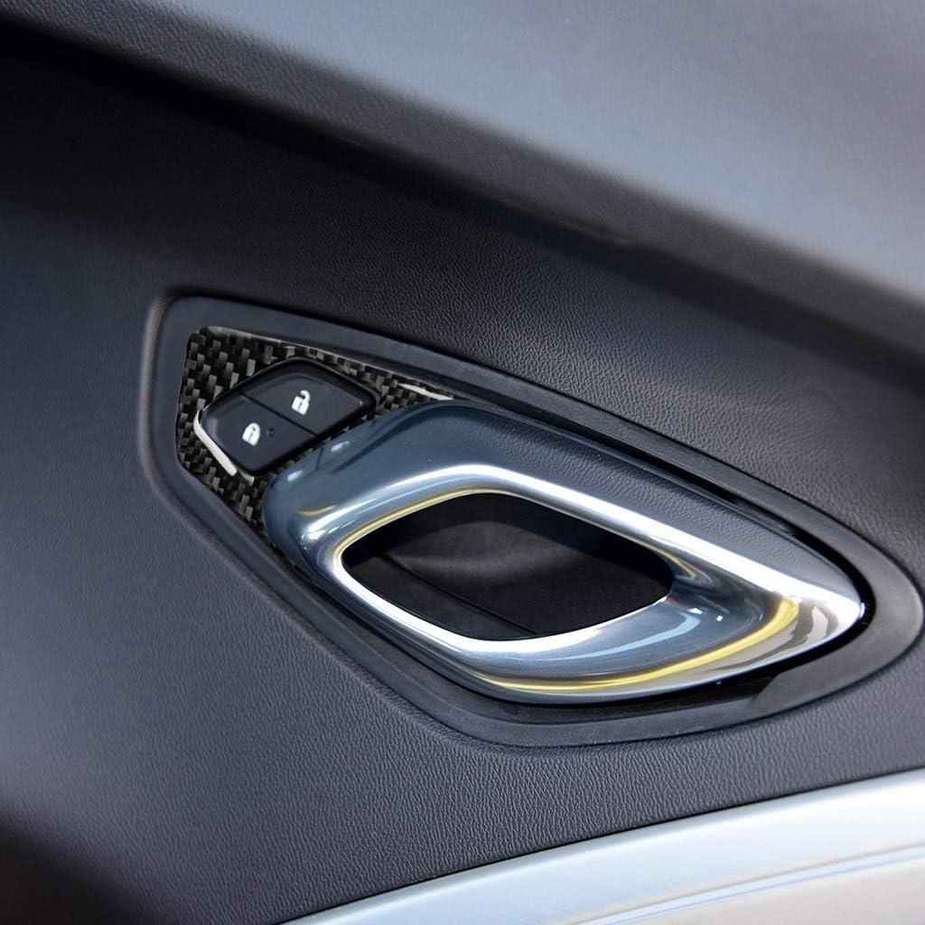 2017-2019 N A Kohlefaser-Dekorplatte Real Carbon Fiber T/ür-Auto-Lock-Button Panel Versch/önerungs Aufkleber Auto-Innen Modification Zubeh/ör Geeignet for Chevrolet Camaro