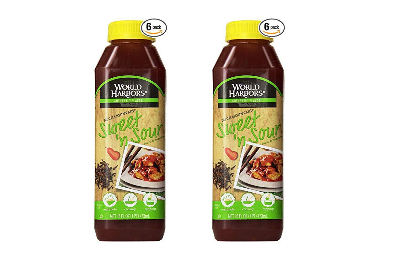 World Harbors Maui Sweet and Sour Sauce, 16-Fl Oz Bottles (Pack of 6) (2 Pack)