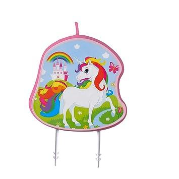 amscan 9904371 - Vela de cumpleaños, diseño de Unicornio ...
