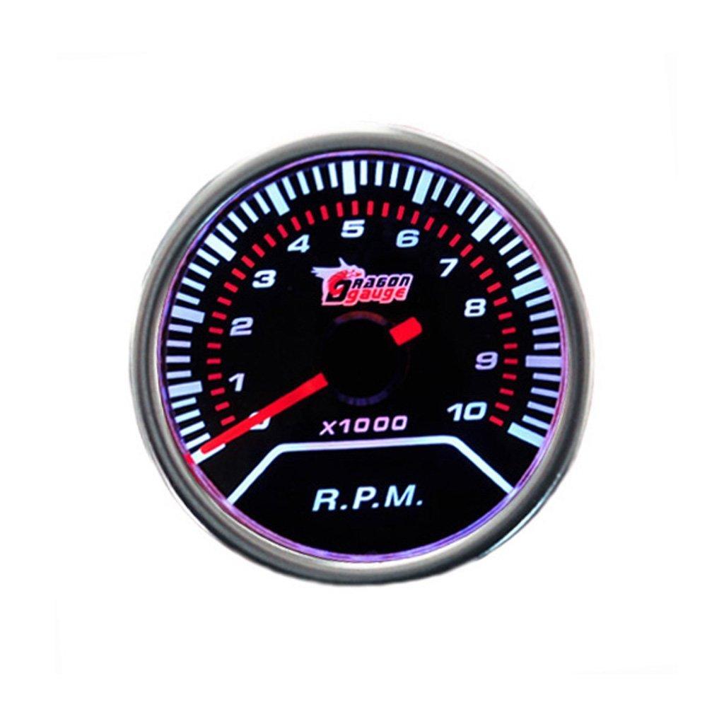 Mintice 12V Auto Motore 2 52mm Universale Manometro bianca LED digitale leggero Turbo boost calibro Misuratore di misura Fumo viso tinta psi