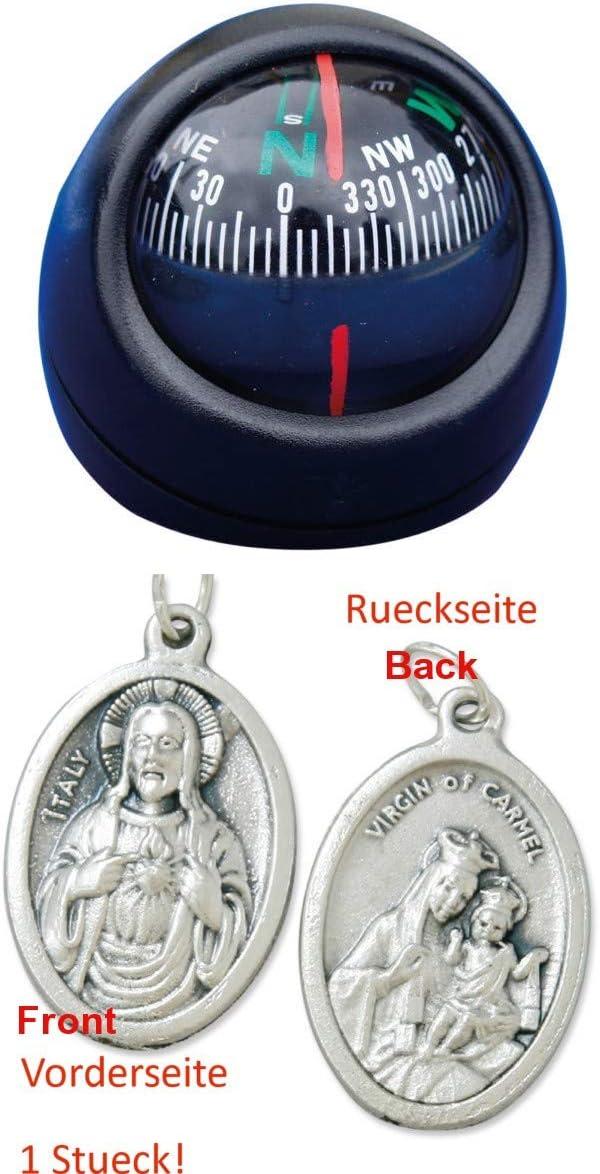 Zisa-Kombi Kugelkompass selbstklebend 93297746447 mit Anh/änger Herz Jesu 2,5cm