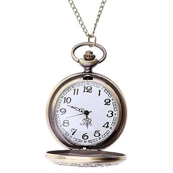 Reloj de Bolsillo Patrón Rosa Hueco Vintage Accesorios de Traje ...
