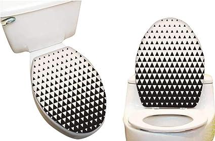 Pleasant Amazon Com Toilet Toilet Lid Decal Sticker White To Black Machost Co Dining Chair Design Ideas Machostcouk