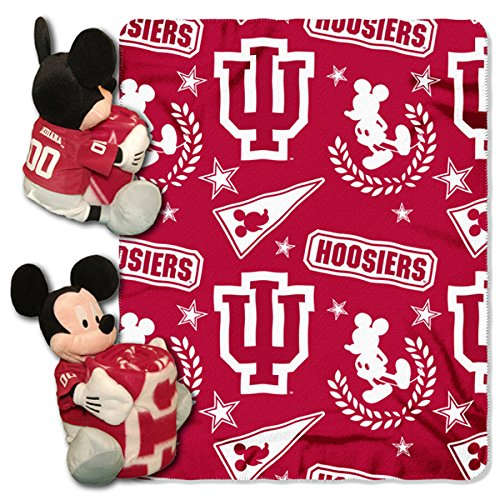 The Northwest Company Officially Licensed NCAA Indiana Hoosiers Co Disney's Mickey Hugger and Fleece Throw Blanket Set ()