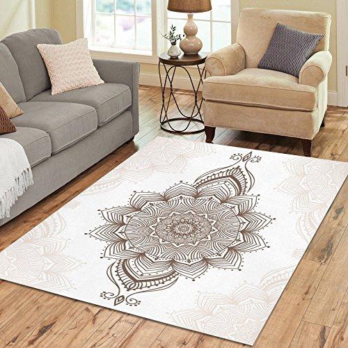 InterestPrint Indian Mandala Hippie Area Rug 7' x 5' Feet, P