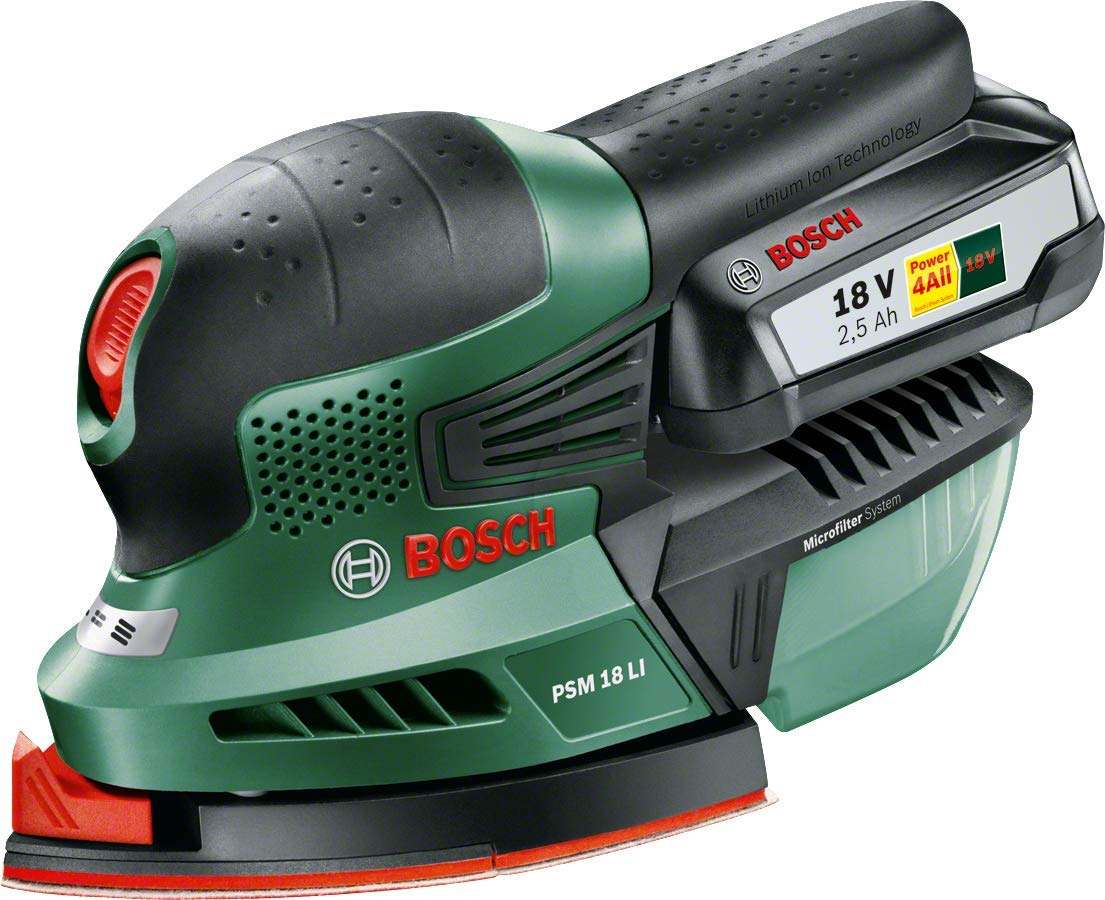 Bosch Home and Garden 0.603.3A1.301 Multilijadora de batería de Litio, 18