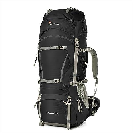 ce5602810e Mountaintop 60+10 Litri/70L+10 Zaino Trekking Impermeabile Escursionismo  montagna campeggio alpinismo