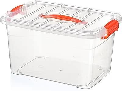 Caja grande organizadora para almacenaje de plástico transparente ...