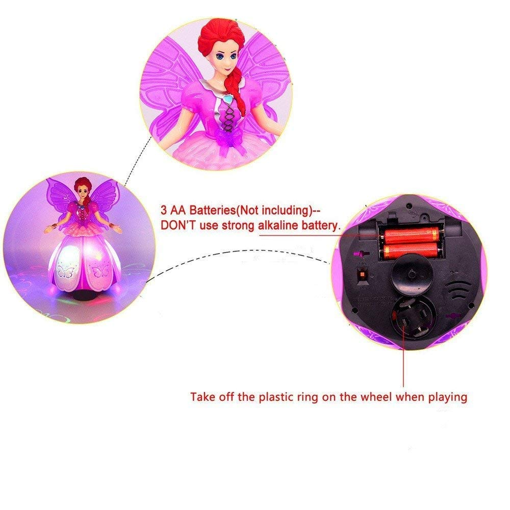 iGifts Inc. Girls Dancing Doll Fairy Robot Angel Toy w/ Spinning LED Lights & Music by iGifts Inc. (Image #4)