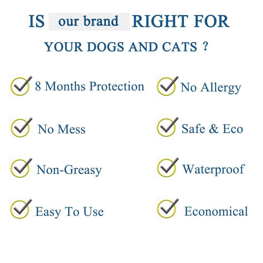 Flightbird Collares Antiparasitario para Perros y Gatos con Ingredientes naturales-25inches Collares Antipulgas y Garrapatas para Perros Pequeño Mediano ...