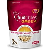 Fruitables Greek Strawberry Yogurt Crunchy Dog Treats