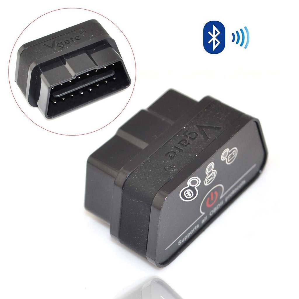 iKKEGOL iCar 2 Mini OBD2 II Bluetooth Car Diagnostic Scanner Torque Android(Black with Black Strip)