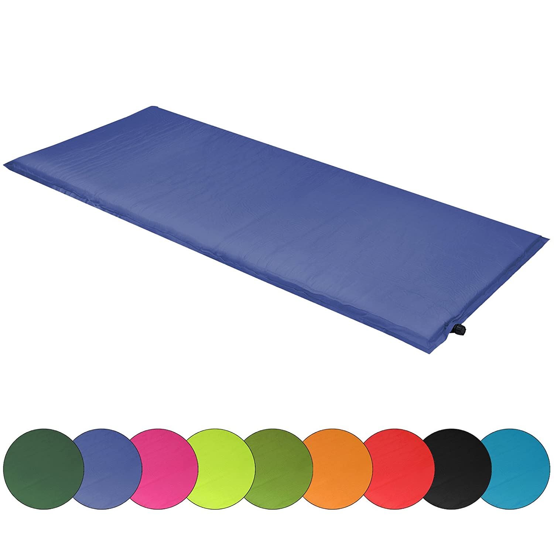 ALPIDEX Colchoneta camping Sunshine 190 x 60 x 2,5 cm esterilla autoinflable, Color:black