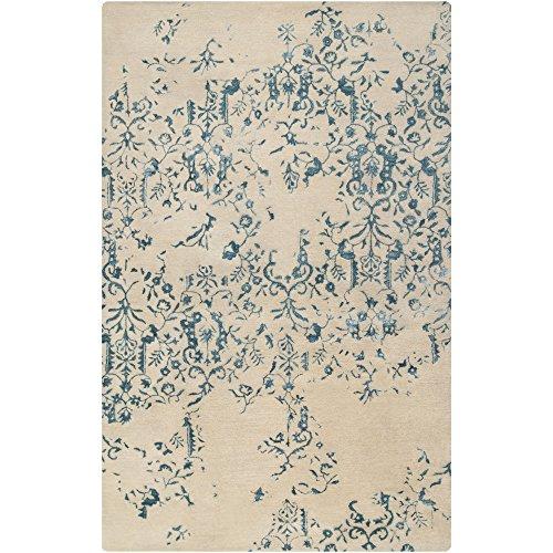 - Surya Banshee BAN-3326 Contemporary Hand Tufted 100% New Zealand Wool Teal Blue 3'3