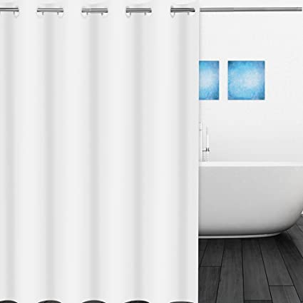 Hookless Shower Curtain White LeHom 71 X 78 100