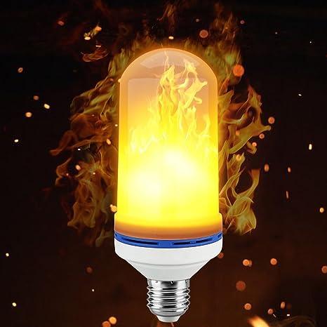 LED bombilla llama ardiendo realista parpadeo llama LED fuego efecto bombilla E27 – 1300 K 150