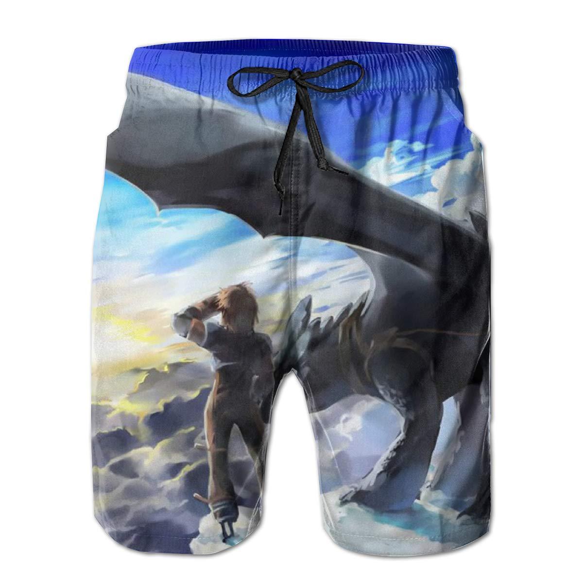 Mens Casual Hawaiian Swim Trunks Printed Board Shorts Sports Beachwear Pants