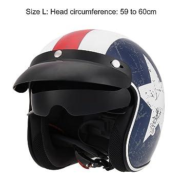 KKmoon Casco con Gafas Visera Protección para Motocicleta Bicicleta Motocross Unisex Tala M/L/