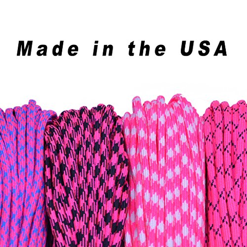 BoredParacord Brand 550 lb Paracord 100 ft. Over 250 Colors