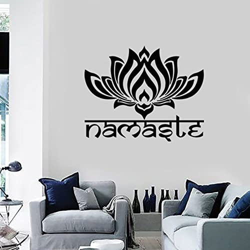 Amazon.com: Namaste Wall Decal Quote Lotus Flower Vinyl Sticker ...