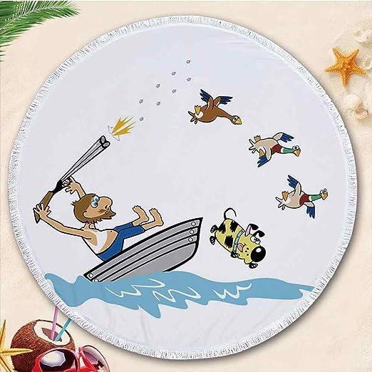 YOLIYANA Humor Decor Toalla de Playa Redonda Grande de 70.87 ...