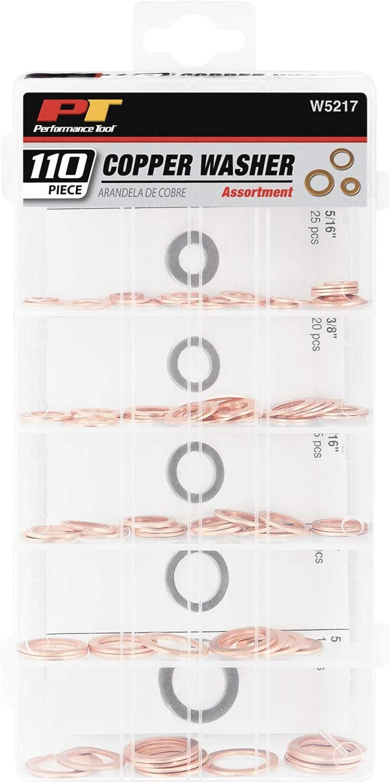 110pc Copper Washer Assortment Set Metric Drain Sump Seal Plumbing Washers