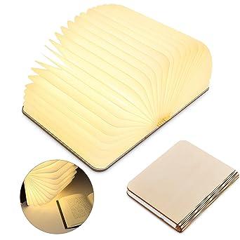 Usb Led D'ambiance Livre Décoratives lampe De Lampe BatteriesPort Chevet blanc 2500mah Lumières Livre Forme Avec veilleuse Pliante En ymYIb6gf7v