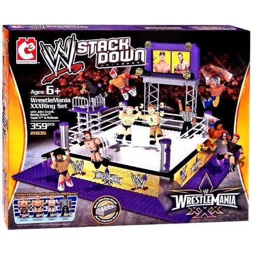 C3 WWE Wrestling Stack Down Set #21035 WrestleMania XXX Ring