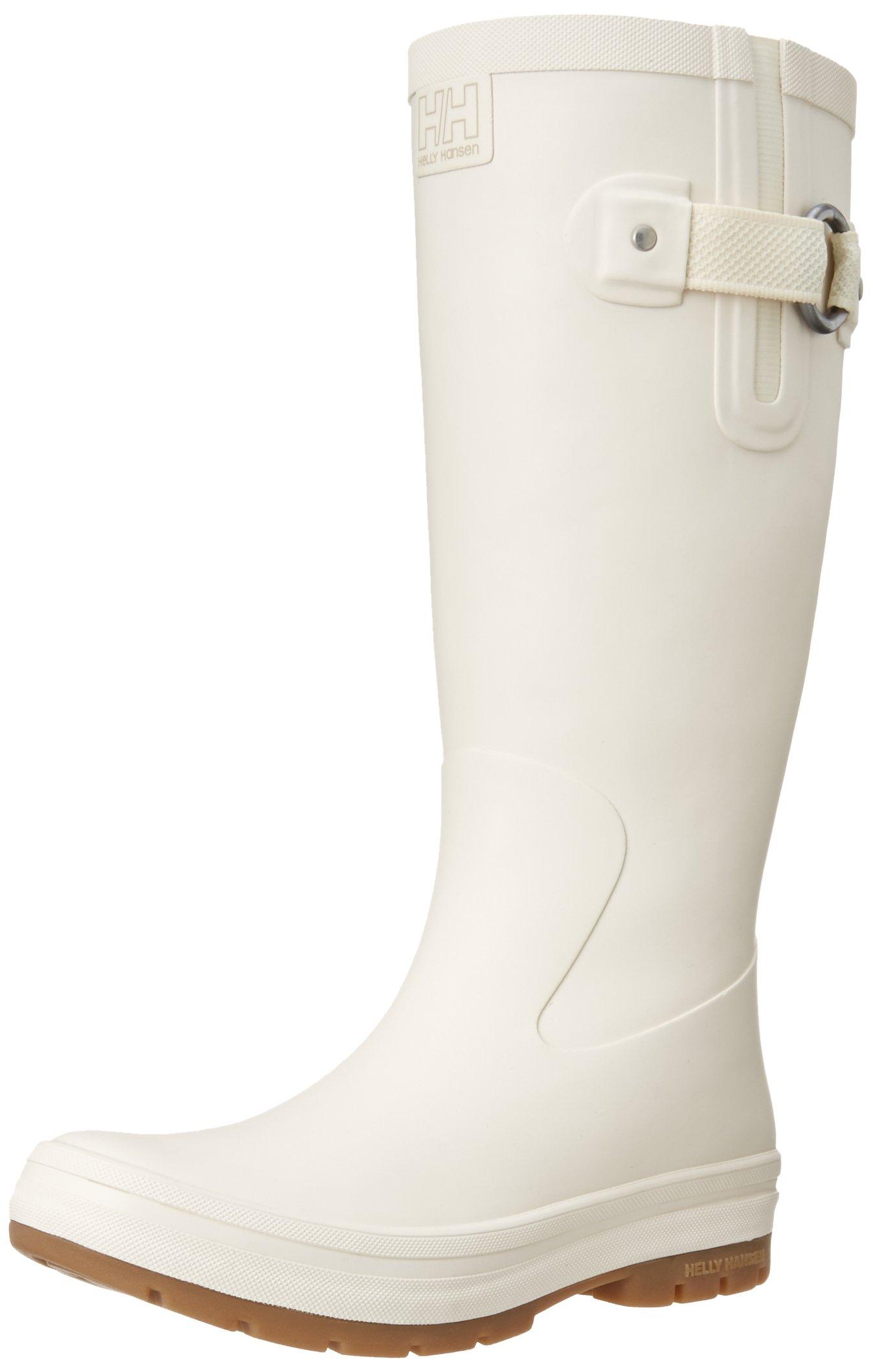 Helly Hansen Women's Veierland Rain Boot, Off White/Khaki/Light Gum, 8 M US