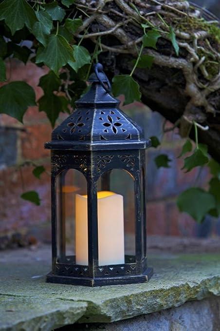 Elegante Jardín Bateria Marroquí Farol Vela: Amazon.es: Hogar