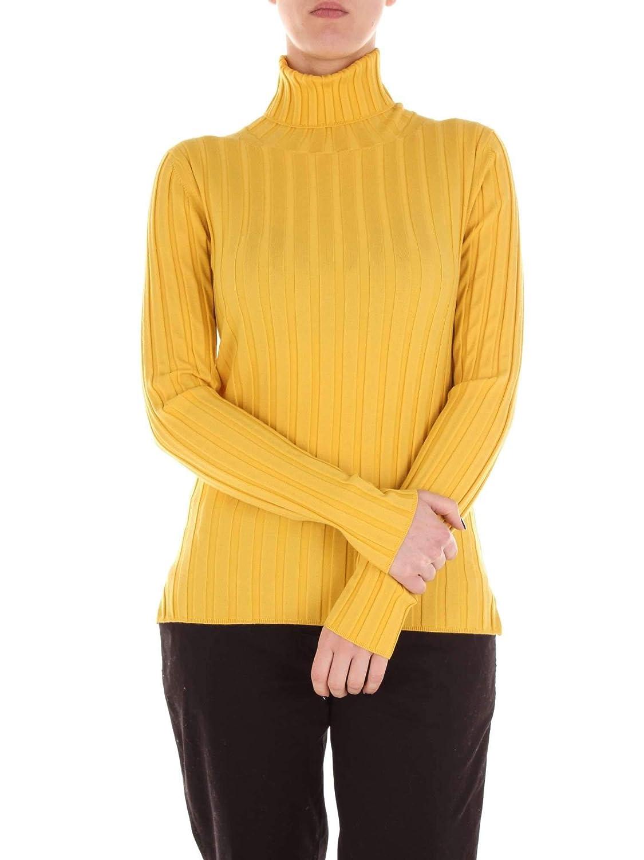 Aspesi Women's 39785044YELLOW Yellow Wool Sweater