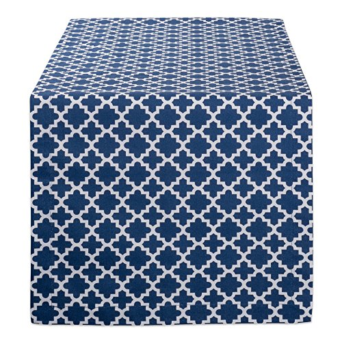 DII Lattice Cotton Table Runner for Dining Room, Foyer Table, Summer Parties and Everyday Use - 14x108