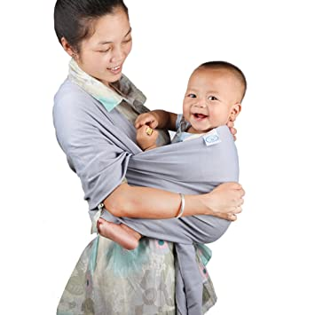 e81252d751a My miumiu Baby Straps Baby Wrap Carrier Baby carrier (Grey)  Amazon.ca  Baby