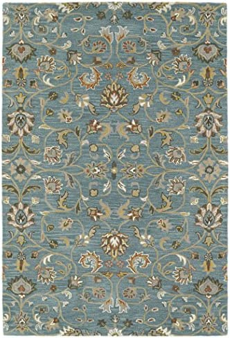 Kaleen Rugs Middleton Collection MID05-78 Turquoise Hand Tufted 2 x 3 Rug