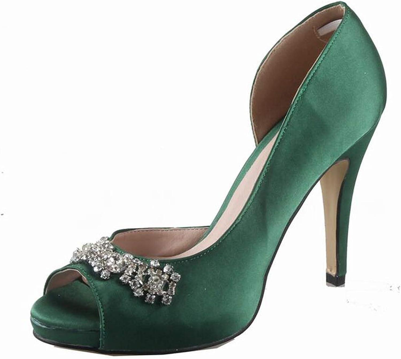 Green Emerald Silk Satin Pumps Wedding