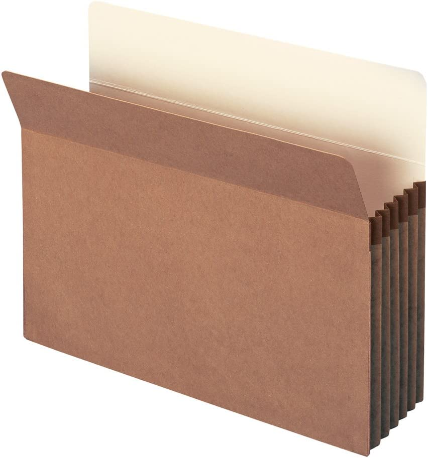 """Smead File Pocket, Straight-Cut Tab, 5-1/4"""" Expansion, Letter Size, Redrope, 50 per Carton (73810)"""