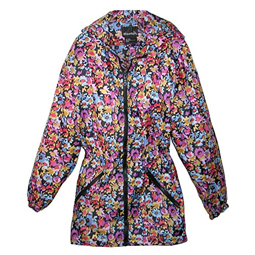 ShedRain Womens Packable Fashion Maxine Floral Print Anorak Rain Jacket, S/M-4/6, Floral (Best M4 On The Market)