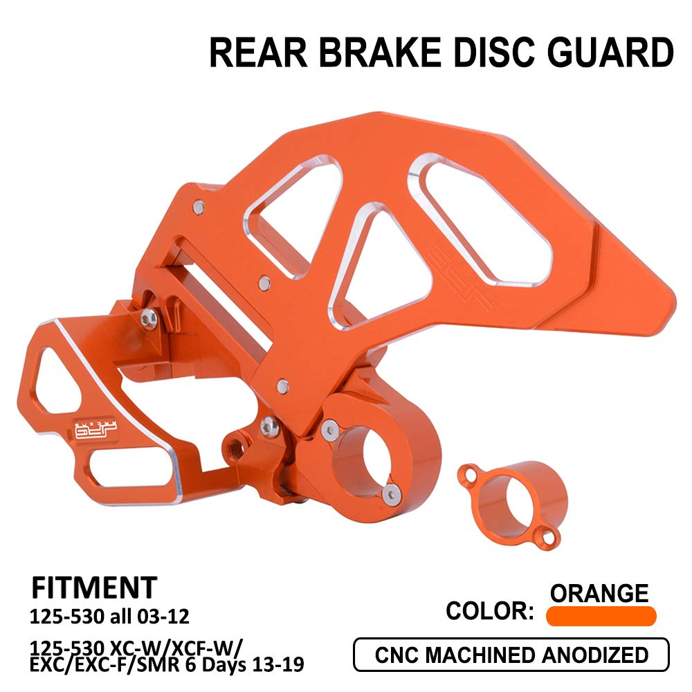 CNC Rear Brake Disc Guard Rear Brake Caliper Guard Kit - Fit For 125-530 KTM SX EXC SXF EXCF XC XCW XCF XCFW SMR