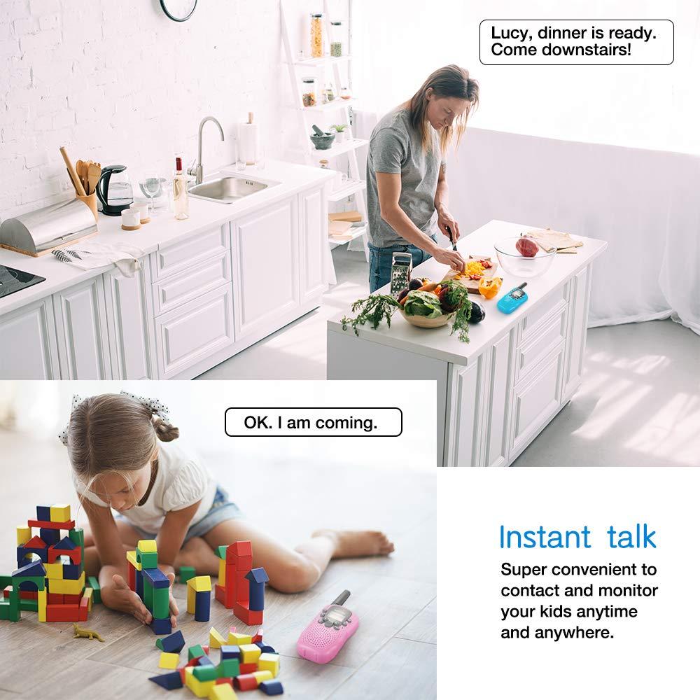 BATURU Walkie Talkies for Kids 3 Pack, 2 Way Radio Toy Walkie Talkie, 3 4 5 6 7 8 9 Year Old Toy Boys and Girls, Walky Talky Long Range (Blue+Pink+Yellow) by BATURU (Image #2)