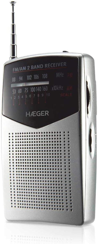 HAEGER Pocket - Radio portatil con Antena telescópica con 29 ...