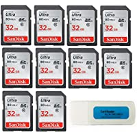 SanDisk Ultra - 10 Pack Bundle UHS-I Class 10 SD Flash...