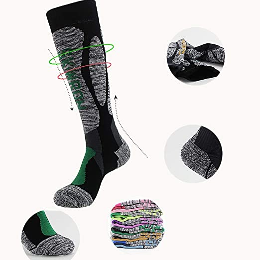 Amazon.com: ForShop 3 Pcs Profession Ski Socks Wear-Resistance Breathable Warm Multi-Performance Thickened Long Socks Moisture-Absorption Deodorant: Kitchen ...