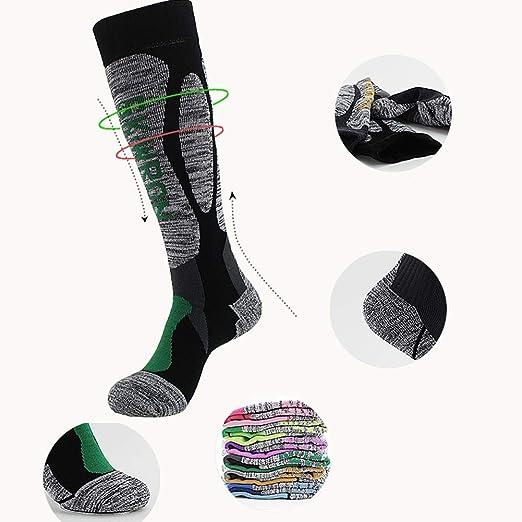 Amazon.com: ForShop 3 Pcs Profession Ski Socks Wear-Resistance Breathable Warm Multi-Performance Thickened Long Socks Moisture-Absorption Deodorant: Kitchen ...