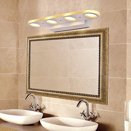 Veesee Modern LED Bathroom Vanity Light Fixture, 12W Hard Wired 3200K  Makeup Mirror Wall Light, ...