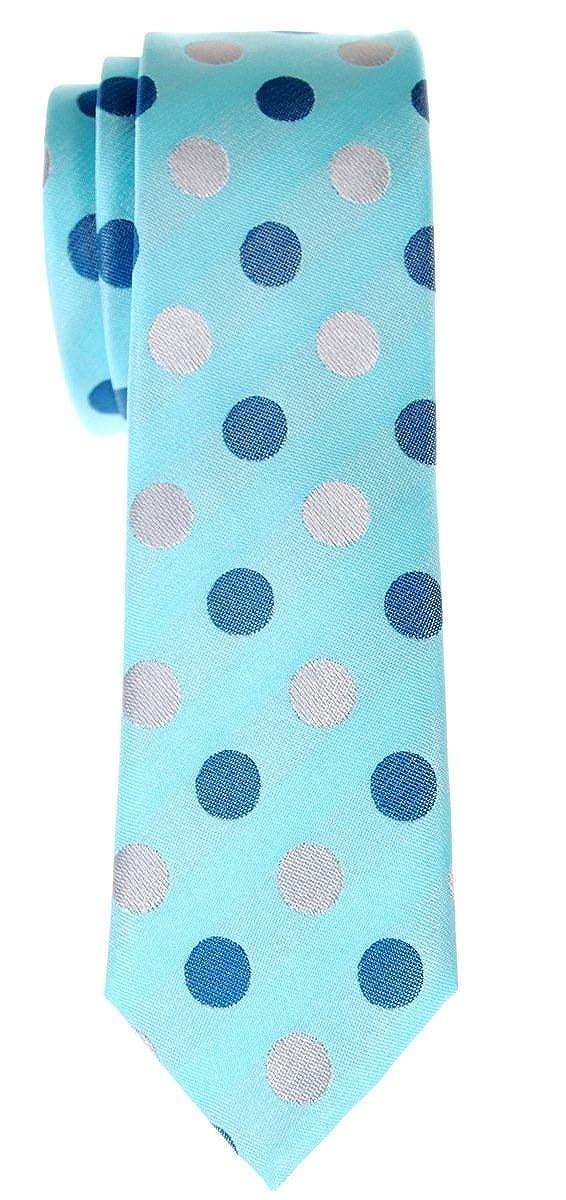 Retreez Corbata de microfibra fina con puntitos para hombres