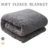 "furryfriend Premium Pet Fleece Blanket Fluffy Dog Cat Blanket Throw, Soft and Warm Puppy Blanket Cover(M 4032"", Grey)"